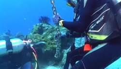 小琉球活體珊瑚遭打樁綁繩 網怒:水準低落!