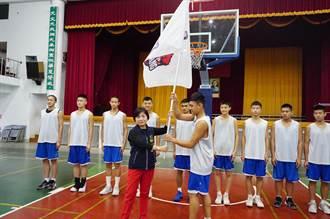 神岡國中前進JHBL決賽 楊瓊瓔授旗為選手打氣