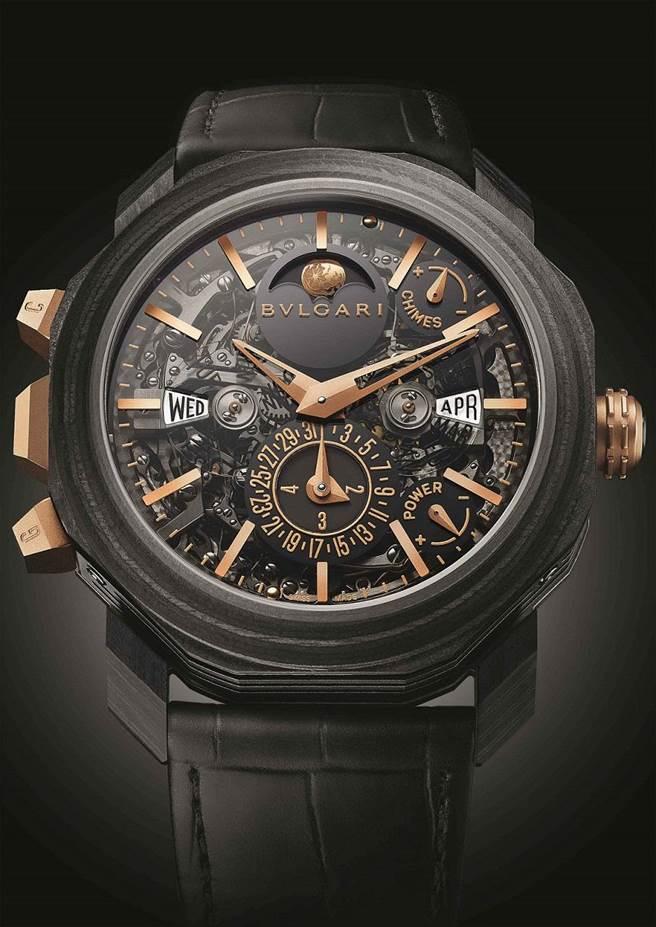 圖說:寶格麗OCTO ROMA大自鳴萬年歷複雜功能腕錶,2613萬。