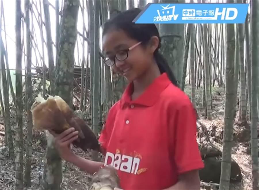 每年畢業季正是南投竹山春筍的產季,學校為了讓小朋友體驗地方產業,連續6年舉辦這超另類的挖竹筍畢業考。(圖/中天新聞)