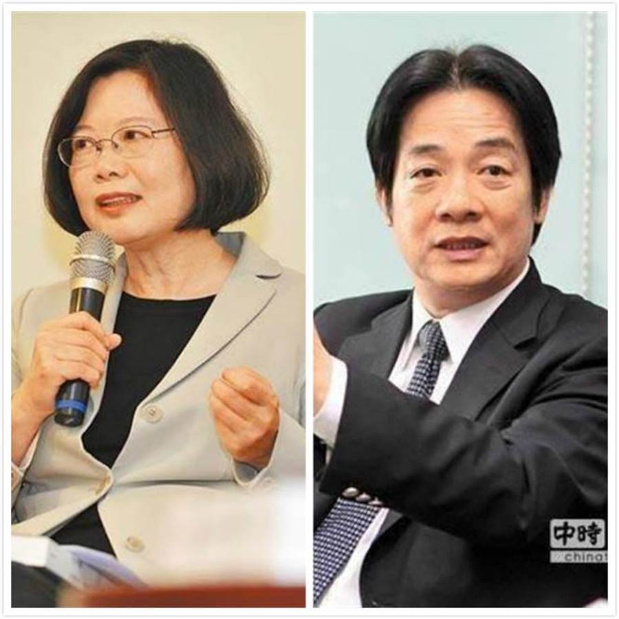 總統蔡英文(左)、前行政院長賴清德(右)。(圖/資料照片)