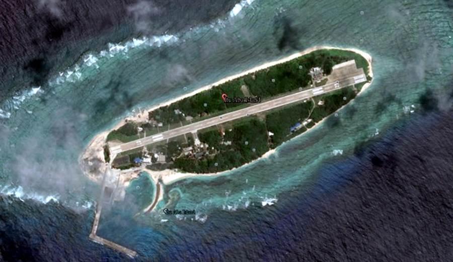法國國民議會對南海議題蒐集資料,法國議員表示談南海避不開台灣,但必須謹慎處理。圖為台灣實質管轄的太平島,為南沙群島中最大的天然島嶼。(圖取自google earth)