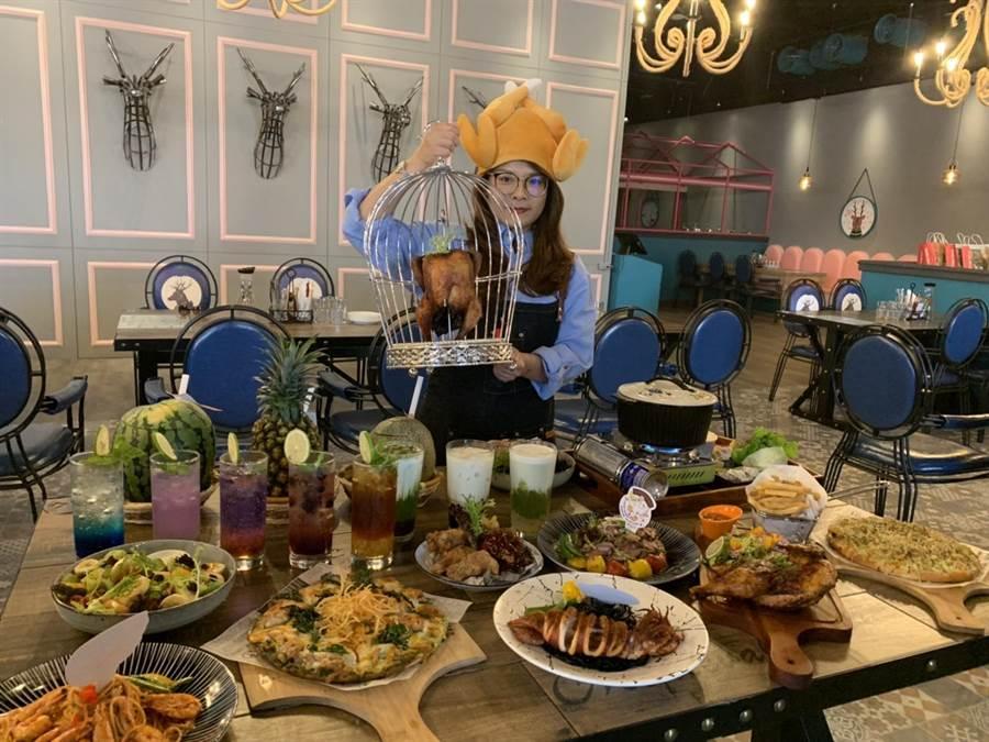 網美餐廳「陽光皇后」從大馬紅回台灣,最近在大魯格草衙道開第3家分店。(柯宗緯翻攝)