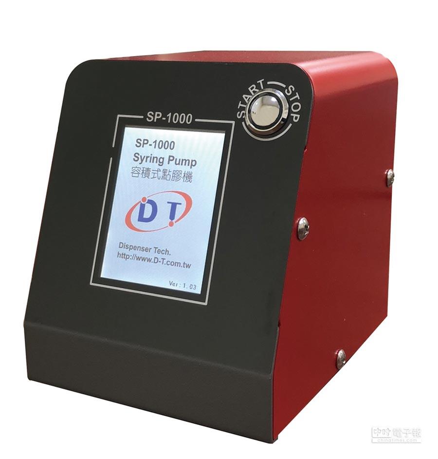 點膠科技新開發的新產品-容積式點膠機。圖/點膠科技提供