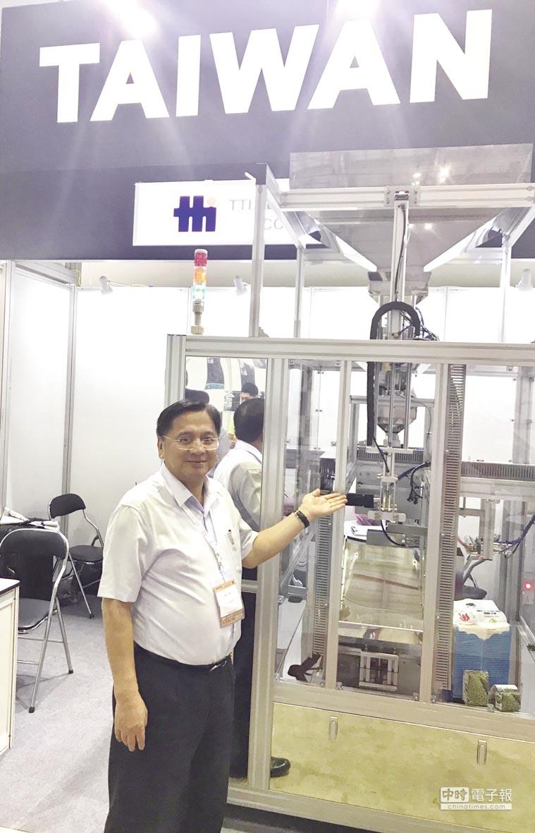 朱瑞忠指出,TTI 19RIAA01只是原型機,未來將針對不同產品,全面提供客製化機種來滿足包裝產業的需求。圖/江富滿