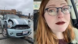 她用生命試妝!車頭毀唇膏卻超堅強