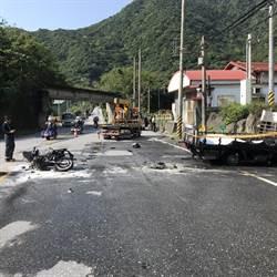 蘇花公路貨、重機擦撞 騎士受困貨車斗燒死
