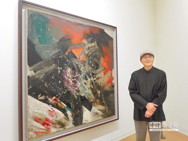 亞洲大學現代美術館13日起舉辦「遠方的行星:趙春翔藝術展」。(林欣儀攝)