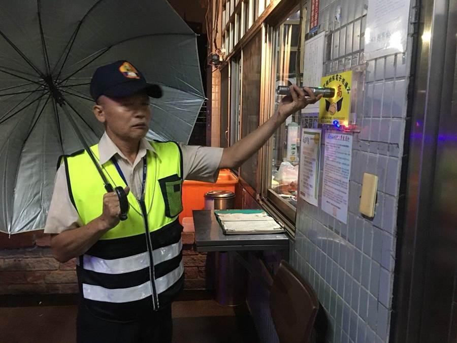 守護治安e化,台中市里守望相助隊電子巡邏箱巡簽更機動。(圖/台中市府提供)
