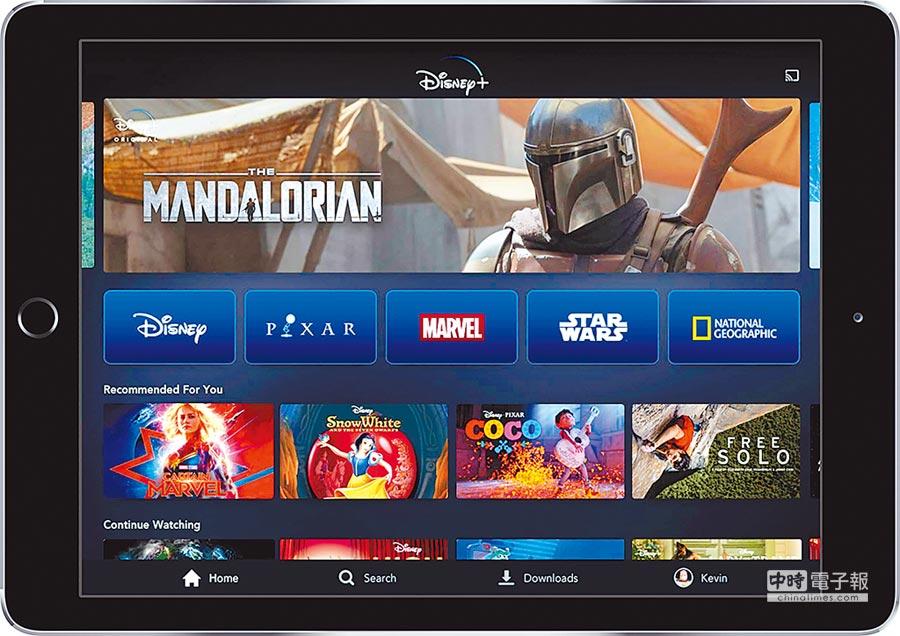 Disney+提供迪士尼旗下眾多熱門品牌的節目與電影,例如漫威、星際大戰與國家地理等。圖/美聯社