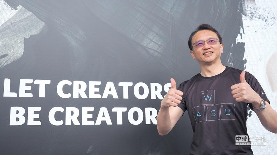 宏碁抓緊微趨勢,在今年的next@acer全球新品發表會中端出聚焦專業創作用戶的新品牌ConceptD創系列,董事長陳俊聖預期這塊新藍海市場潛力將超越電競。圖/翁毓嵐