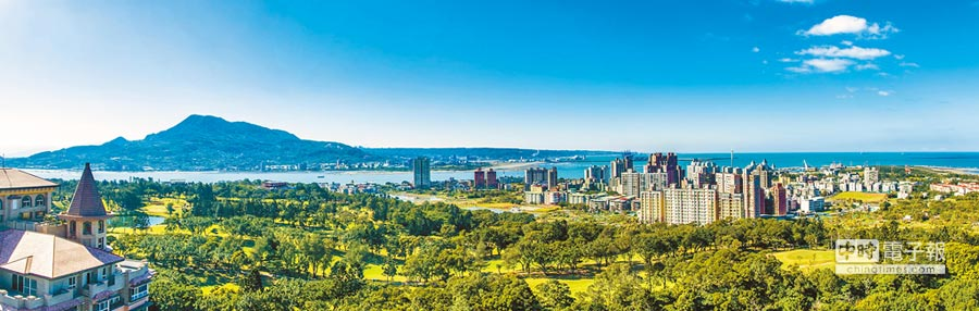 寶路百億大案、台北灣系列7,鄰近淡水高爾夫球場,基地近萬坪。(甲山林提供)
