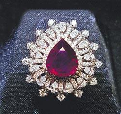 喀什米爾天然紫紅寶石