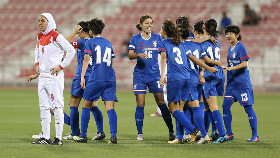 中華足協申辦2022年亞洲盃女足賽,圖為中華女足今年在奧運資格賽擊敗伊朗,挺進第3輪。(資料照/中華足協提供)