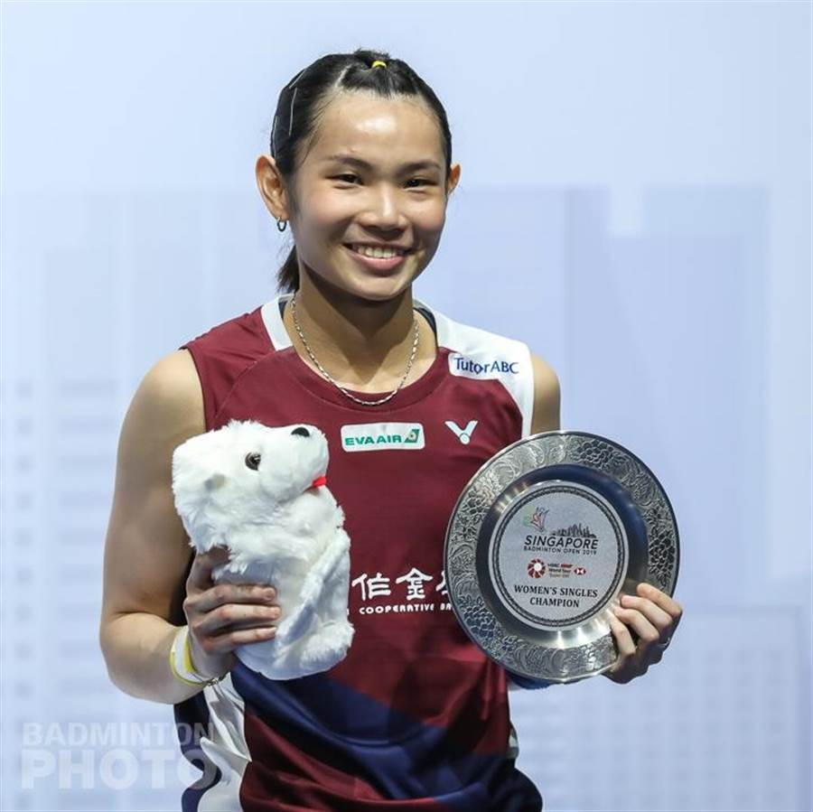 戴資穎繼2017年後,再度於新加坡公開賽女單封后。(Badminton Photo提供)