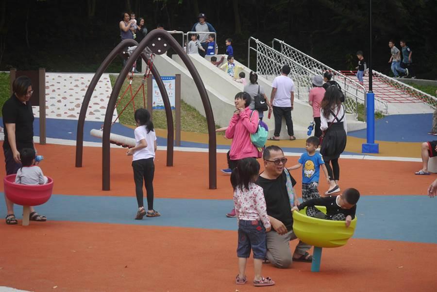 花蓮市近年陸續推動「共融公園」,有身障家長盼也能納入友善空間。(許家寧攝)