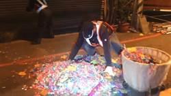 大甲媽一夜喧囂過後 彰化市清潔隊員徹夜未眠 清出7.5噸垃圾