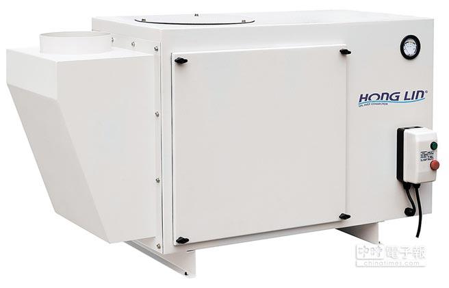 鴻霖強力型油霧回收空氣淨化器,效率高。圖/鴻霖提供