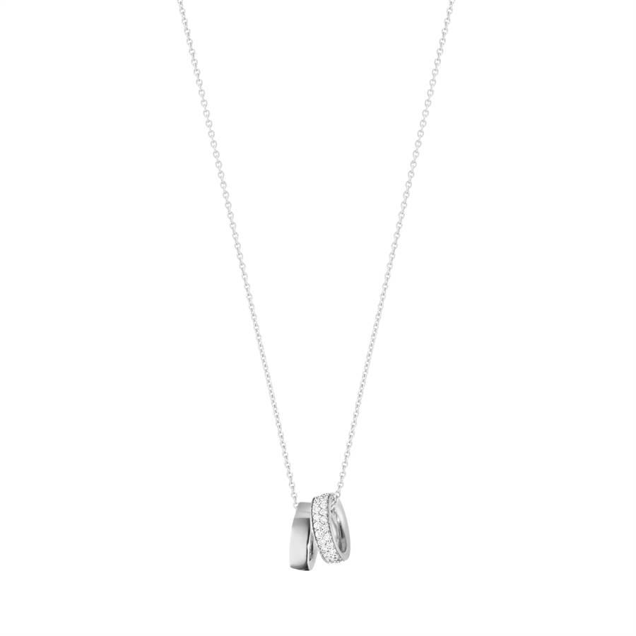 喬治傑生MAGIC系列18K白金鑽石鍊墜,5萬3500元 (GEORG JENSEN提供)