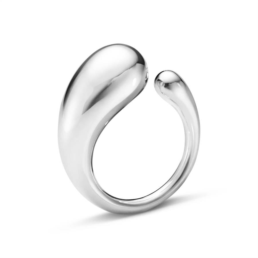 喬治傑生MERCY純銀戒指,5800元起。 (GEORG JENSEN提供)