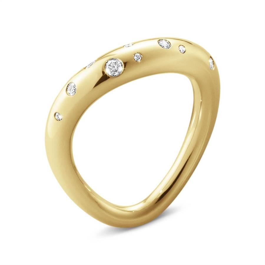 喬治傑生OFFSPRING 18K黃金鑽石戒指,4萬7500元 (GEORG JENSEN提供)