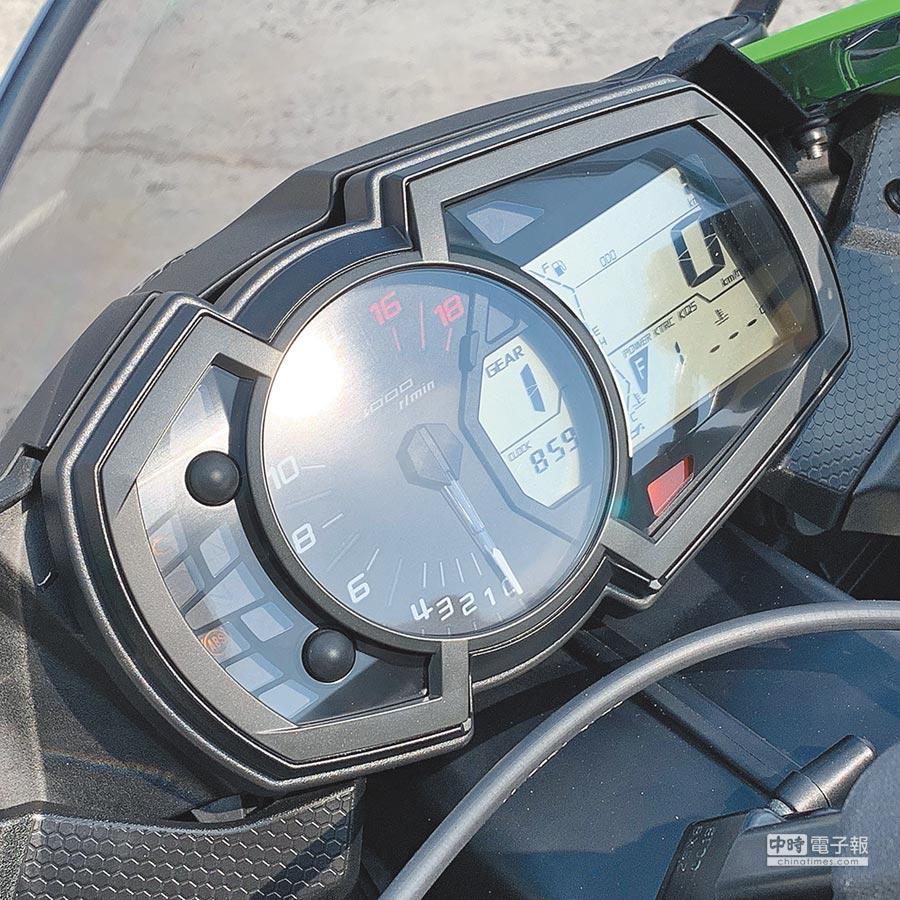 多功能儀表板造型美觀、資訊豐富,中央轉速表是最大亮點。(陳大任攝)