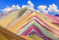 不是合成!這座彩虹山美到讓人窒息