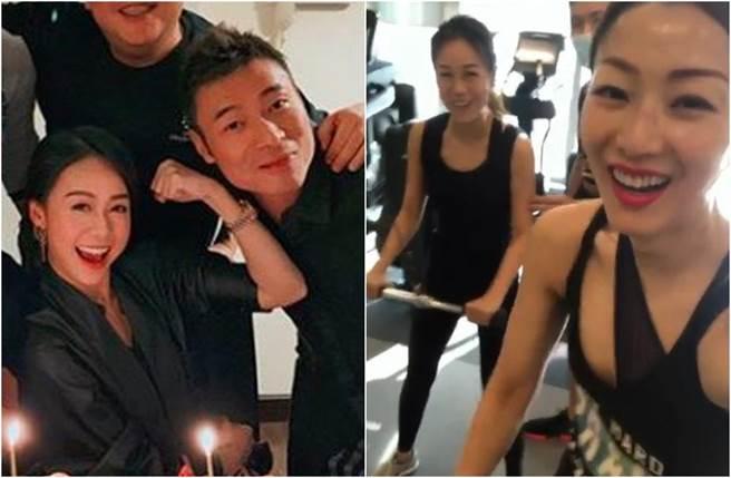 許志安1月替黃心穎慶生,鄭秀文去年也和小三一起健身。(圖/翻攝自IG)