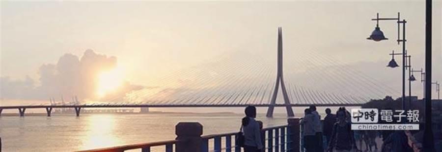 淡江大橋開通有助於淡水、八里地區發展。