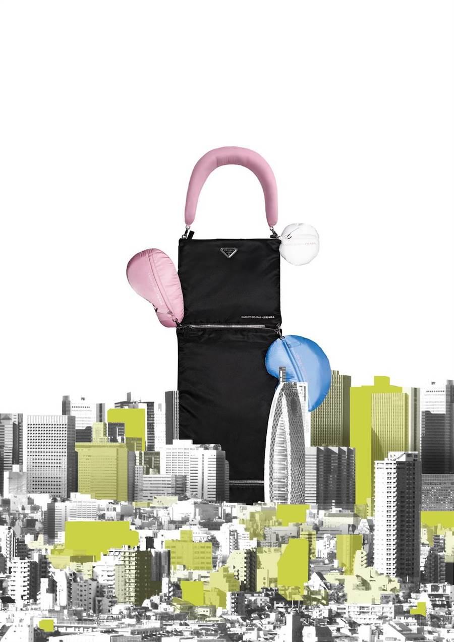 妹島和世設計了長袋「daln」和彎型袋「yooo」。(Prada提供)