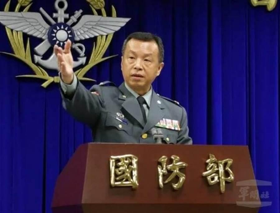 國防部軍事發言人陳中吉。呂昭隆攝