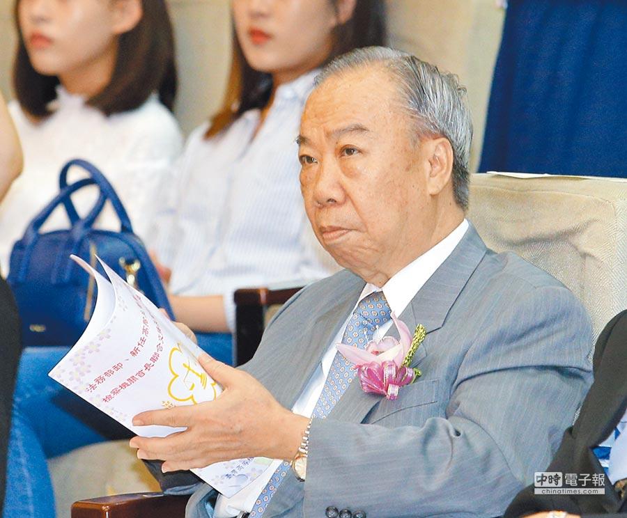 針對前法務部長邱太三涉請託關說案,高檢署檢察長王添盛表示全案已經結束。(本報資料照片)