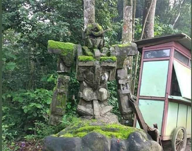 森林驚見鋼彈石像 傳有5百年歷史