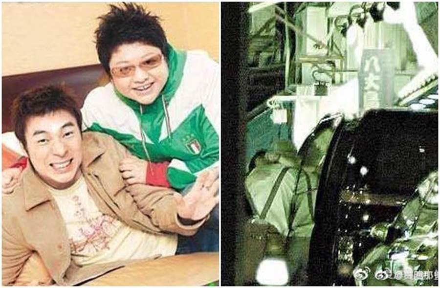 許志安昔日也曾被拍到疑似與韓紅在街頭擁吻的照片。(圖/微博)