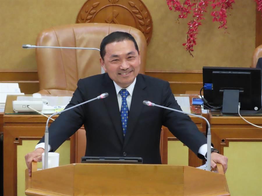 新北市長侯友宜表示,支持對新北做事的人。(葉德正攝)