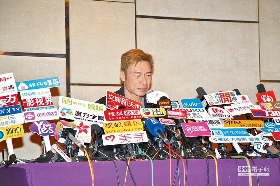 許志安昨在記者會上聲淚俱下向鄭秀文道歉。