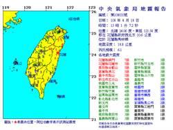 6.1强震!花莲铜门震度7级  46年来最大震