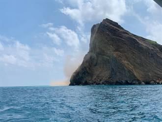 花蓮強震 龜山島土石崩落
