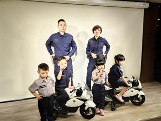 新式警察制服全面換裝 蘆竹小小警察也換更新