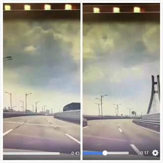新北環快地震畫面曝光 路燈狂舞