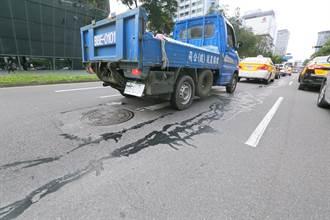 網路流傳「松仁路馬路裂開」照片 北市工務局回應了
