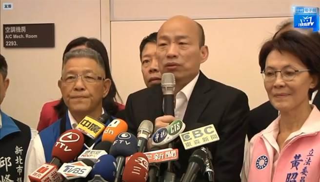 韓國瑜抵台 韓粉喊選總統