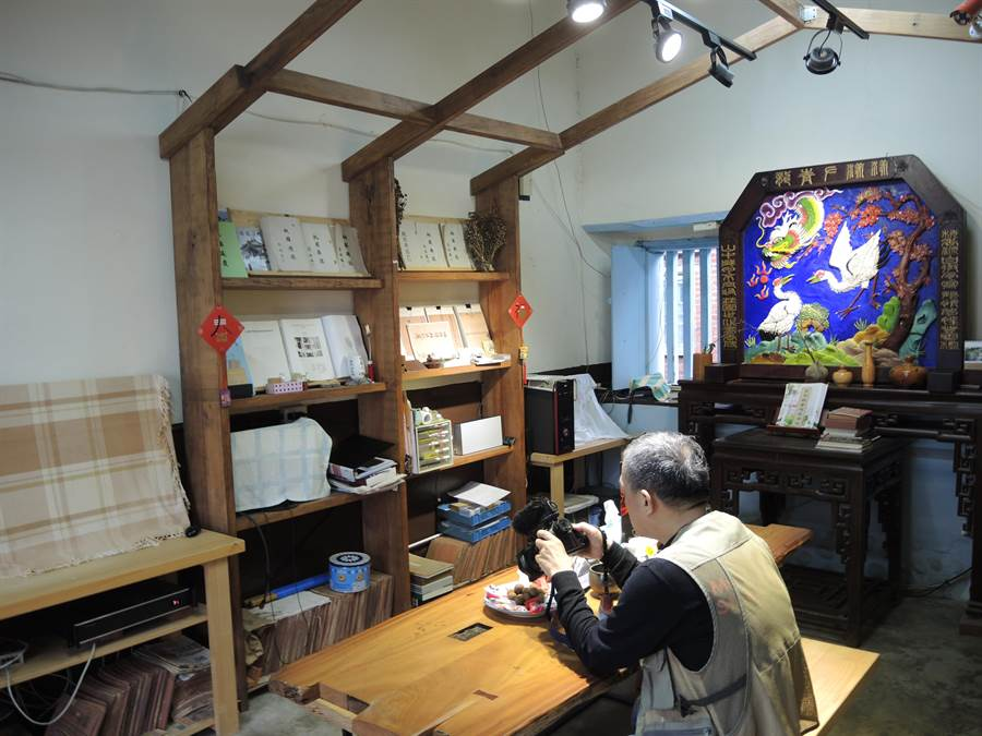 梅鶴山莊因整修中,書屋也將暫時關閉。(邱立雅攝)