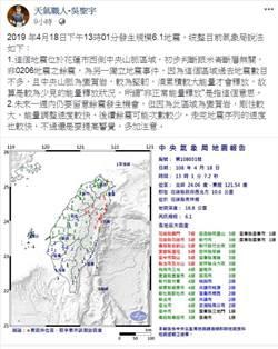 氣象局「非正常能量釋放」地震嚇壞民眾 專家揭涵義