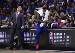 NBA》七六人不妙?恩比德膝傷缺陣G3