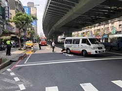 新北復康巴士疑遭追撞 肇責警調查