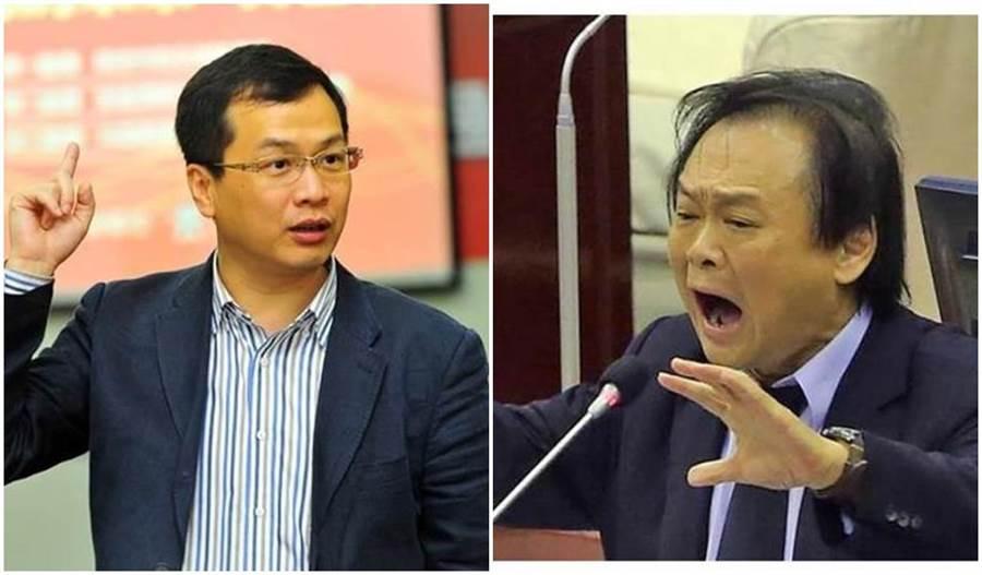 國民黨北市議員羅智強(左)、民進黨北市議員王世堅(右)。(本報系資料照片)