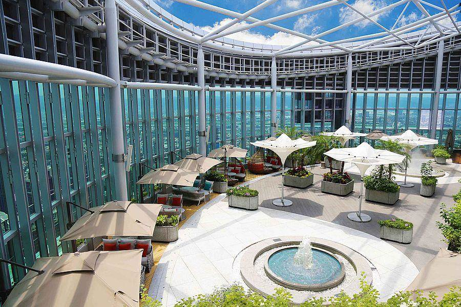 Asia 49亞洲料理及酒廊-空中花園。(Mega 50提供)