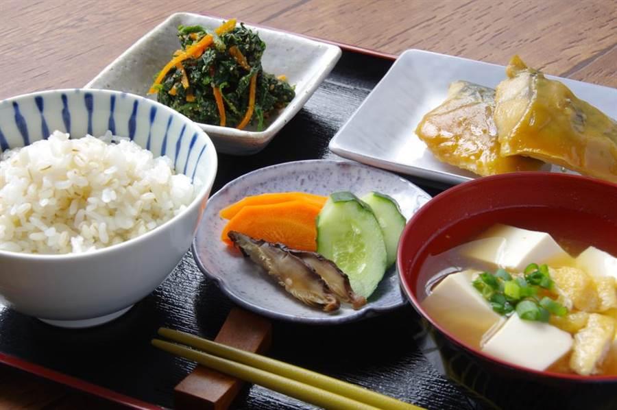 日本早餐示意圖。(達志)