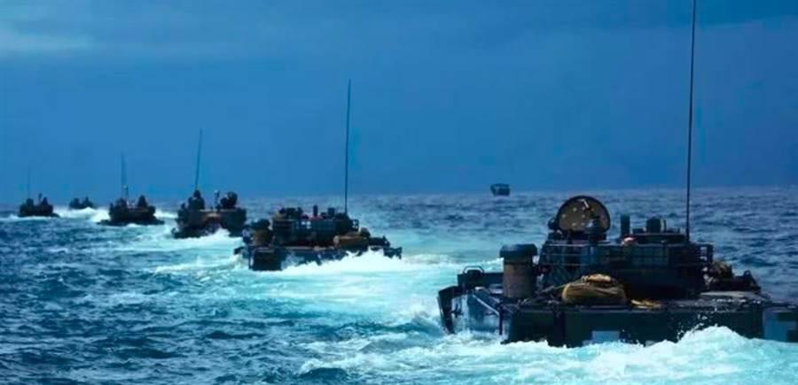 央視在節目中證實,解放軍海軍陸戰隊已擴編成軍。(微信公眾號「政知見」)